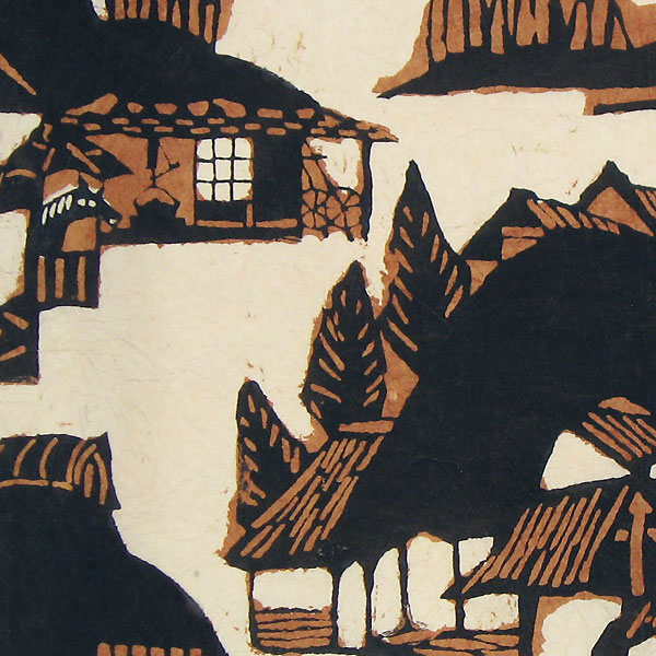 Houses (Brown), circa 1955 by Yoshitoshi Mori (1898 - 1992)