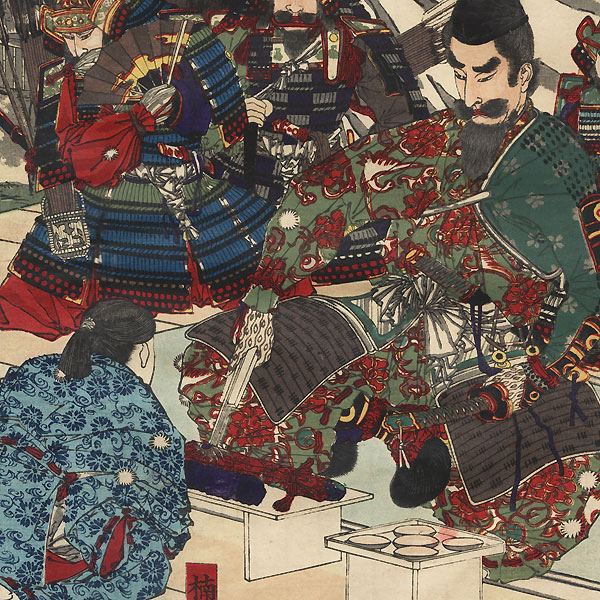 Kusunoki Masashige Saying Farewell to His Son, 1881 by Toyonobu (1859 - 1886)