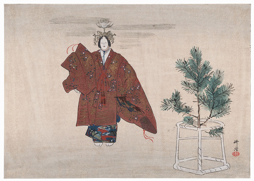 Hagoromo (The Feather Robe) by Tsukioka Kogyo (1869 - 1927)