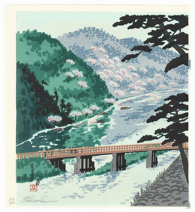 Spring at Arashiyama by Tokuriki Tomikichiro (1902 - 1999)