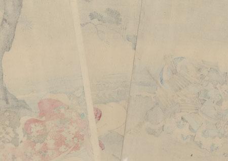 A Chronicle of the Battle of Ichi-no-Tani at Suma, 1898 by Chikanobu (1838 - 1912)