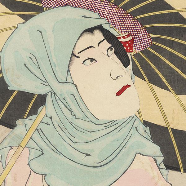 Ichikawa Danjuro IX as the Heron Maiden (Sagi Musume) by Kunichika (1835 - 1900)