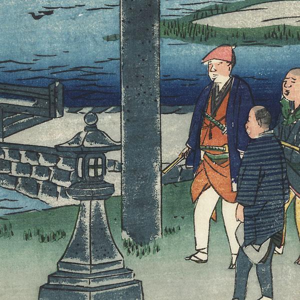 Nagaoka Tenmangu Shrine, Western Kyoto by Umekawa Tokyo (active circa mid-1850s - early 1860s)