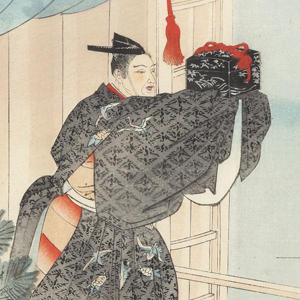Men-bako (The Mask Box) by Tsukioka Kogyo (1869 - 1927)