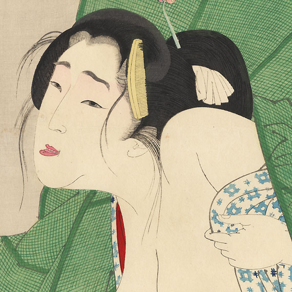 Itchy: the appearance of a kept woman in the Kaei era, No. 16 by Yoshitoshi (1839 - 1892)