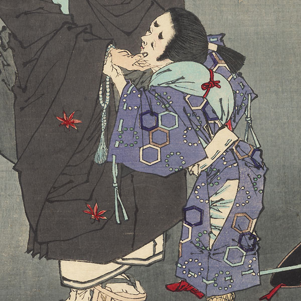 Karukaya Doshin Refuses to Recognize Ishidomaru, 1881 by Yoshitoshi (1839 - 1892)