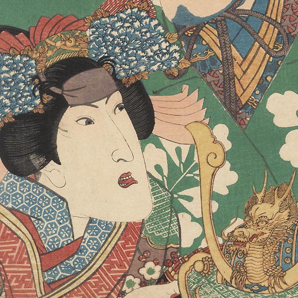 Nakamura Shikan and Iwai Hanshiro, 1832 by Toyokuni II (1777 - 1835)