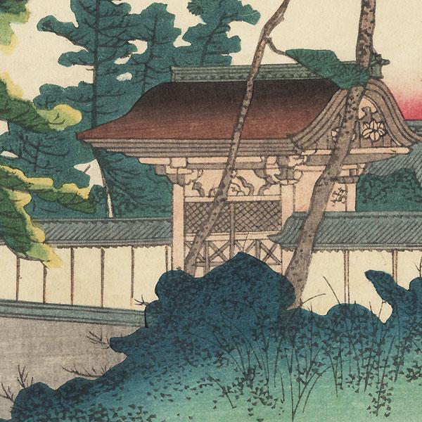 Koutai-ji Temple Gate at Funakata by Yoshitoyo (1830 - 1866)