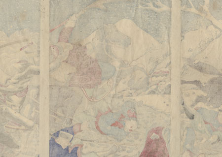 Fighting near Niuzhuang by Toshihide (1863 - 1925)