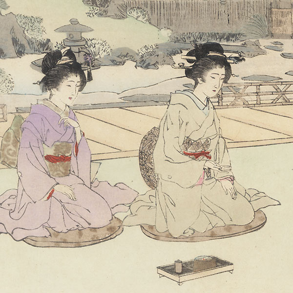 Chatting with Guests by Meiji era artist (unsigned)
