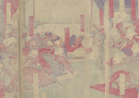 Saigo Takamori and Samurai Arguing, 1878 by Shogetsu (active circa 1880 - 1890)