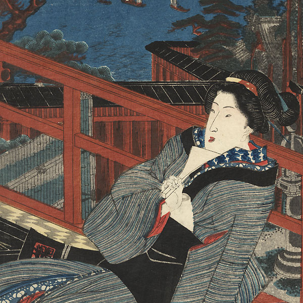 Fashionable Beauties by Toyokuni III/Kunisada (1786 - 1864)