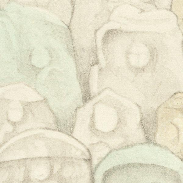 Stone Sculptures by Shin-hanga & Modern artist (not read)