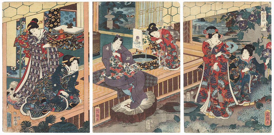 Songs of the Four Seasons: Summer, 1853 by Kuniteru (active circa 1820 - 1860)