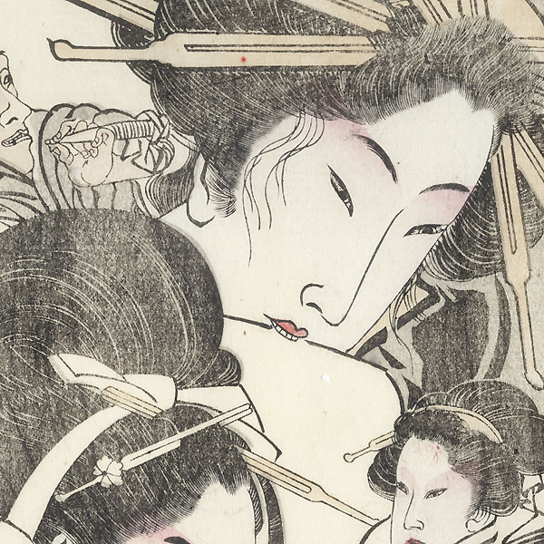 Beauties in the Style of Utagawa Toyokuni by Kyosai (1831 - 1889)