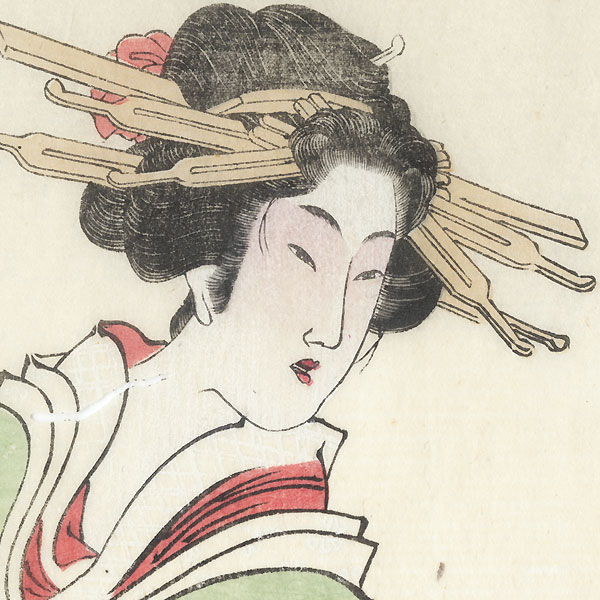 Beauties in the Style of Kikugawa Eizan by Kyosai (1831 - 1889)