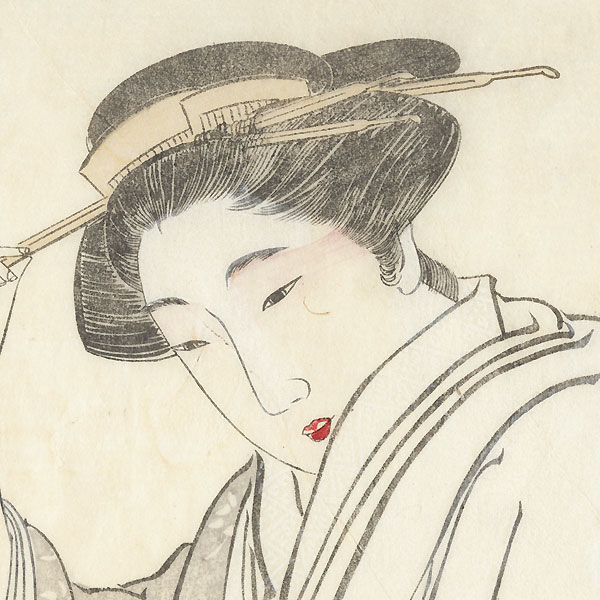 Beauty in the Style of Maruyama Onkio by Kyosai (1831 - 1889)