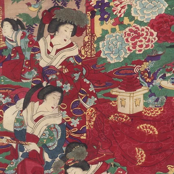 Tokyo Peers School: Banquet at Gakushuin, 1879 by Chikanobu (1838 - 1912)
