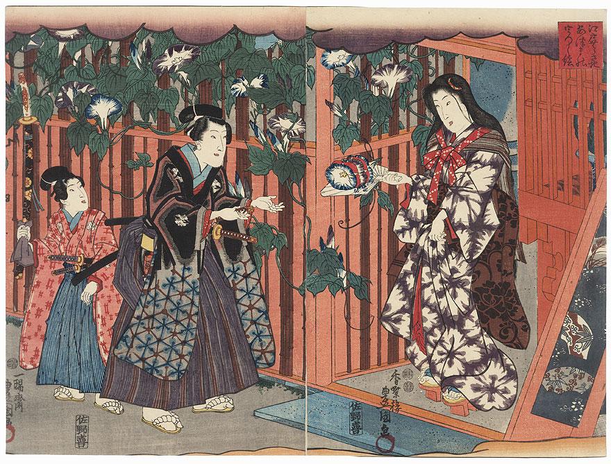 The Yugao Scene from Inaka Genji, 1847 - 1852 by Toyokuni III/Kunisada (1786 - 1864)