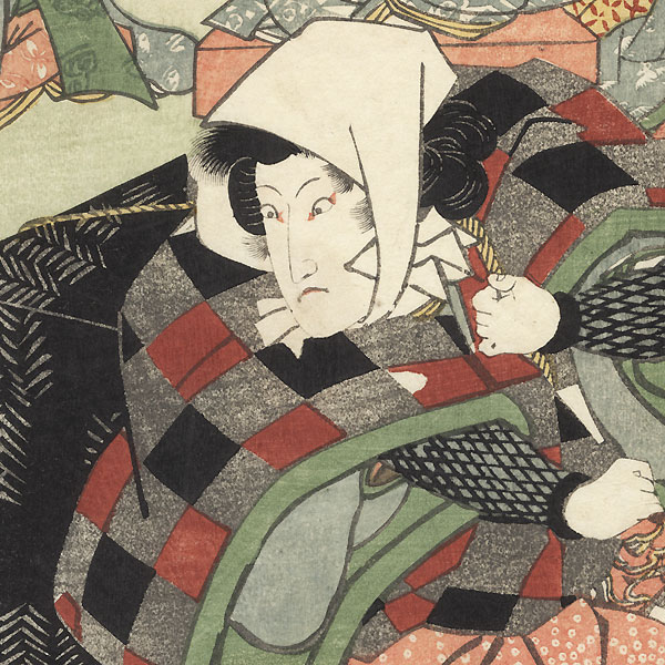 Iwai Hanshiro as a Man Carrying a Trunk by Toyokuni III/Kunisada (1786 - 1864)