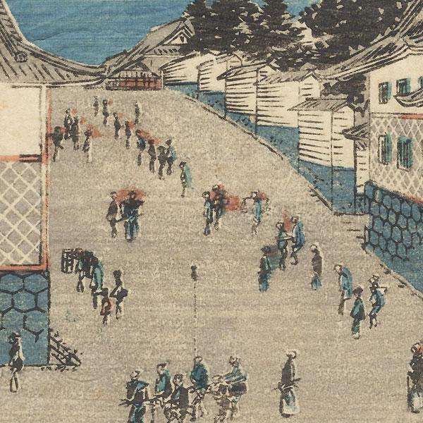 Kasumigaseki by Hiroshige (1797 - 1858)