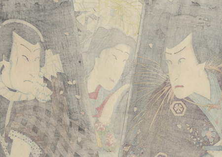 The Nun Seigen, 1863 by Kunichika (1835 - 1900)