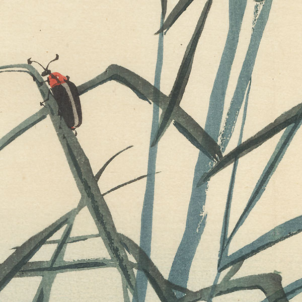 Lightning Bugs by Bairei (1844 - 1895)