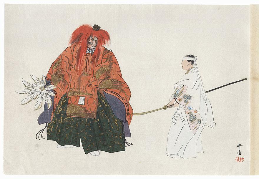 Kurama tengu by Tsukioka Kogyo (1869 - 1927)