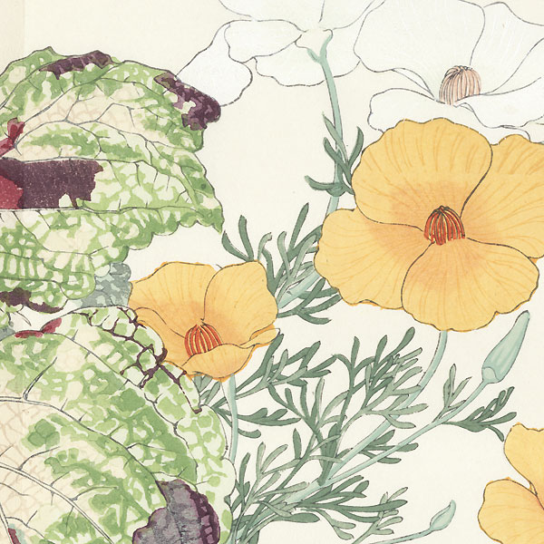California Poppy and Coleus by Tanigami Konan (1879 - 1928)
