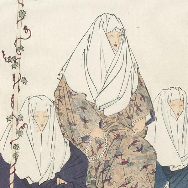 Ohara Miyuki (Imperial Visit to Ohara) by Tsukioka Kogyo (1869 - 1927)