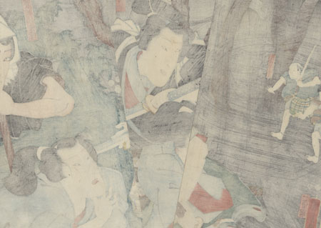 Scene from Shiranui Monogatari, 1853 by Kuniyoshi (1797 - 1861)