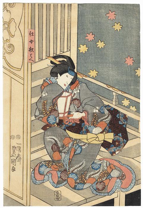Arashi Koroku V as Jijo Sugibae, 1851 by Toyokuni III/Kunisada (1786 - 1864)