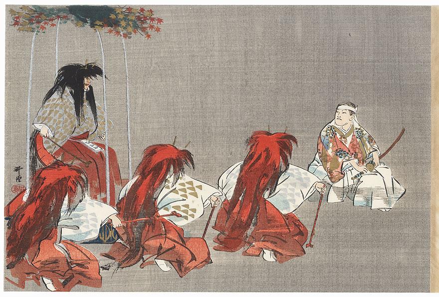 Momijigari (Maple Viewing) by Tsukioka Kogyo (1869 - 1927)