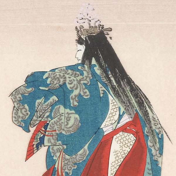 Yoshino Tennin by Tsukioka Kogyo (1869 - 1927)