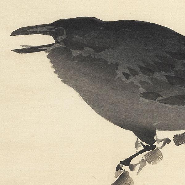 Crow by Bairei (1844 - 1895)