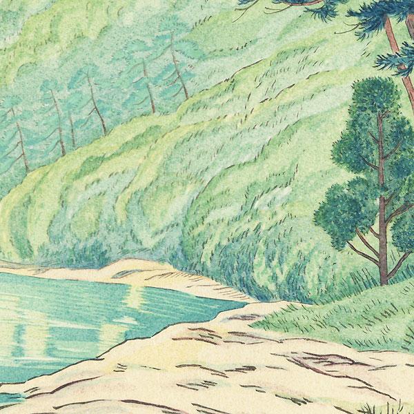 Kyoto Arashiyama in Tender Green, circa 1930s by Yamashita Shintaro (1881 - 1996)