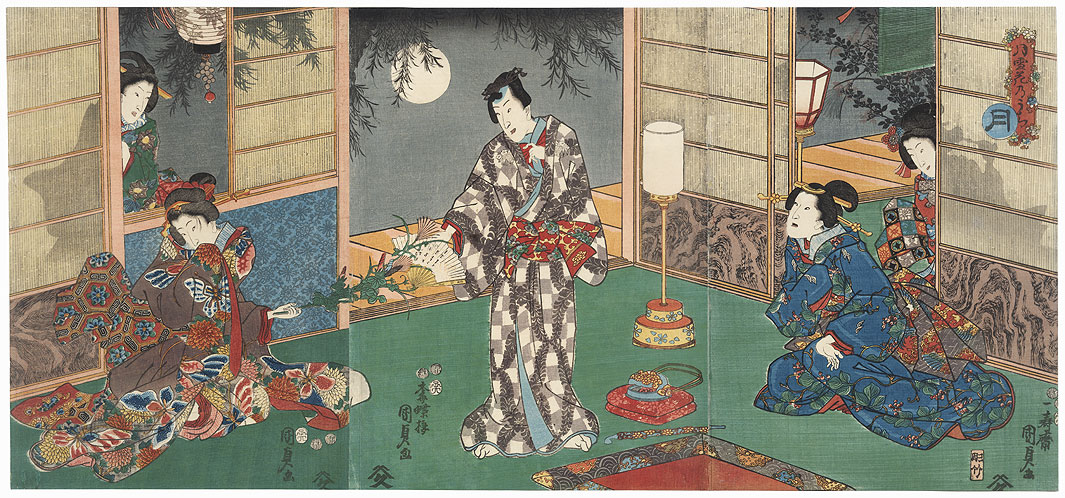 Moon, 1852 by Kunisada II (1823 - 1880)