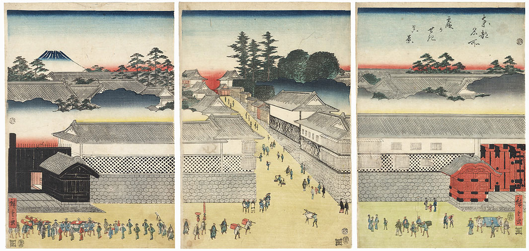 A True View of Kasumigaseki, 1854 by Hiroshige (1797 - 1858)