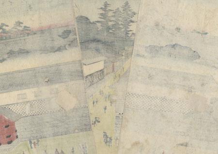 A True View of Kasumigaseki, 1854 by Hiroshige (1797 - 1858)