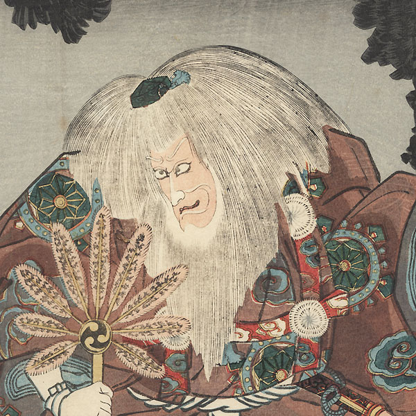 Scene from Kiichi Hogen sanryaku no maki, 1850 by Kuniyoshi (1797 - 1861)