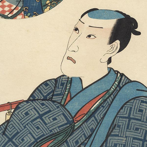 Ichikawa Danjuro VIII, 1854 by Toyokuni III/Kunisada (1786 - 1864)