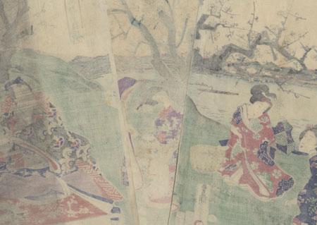 Fashionable Spring Herb-gathering, 1863 by Toyokuni III/Kunisada (1786 - 1864)