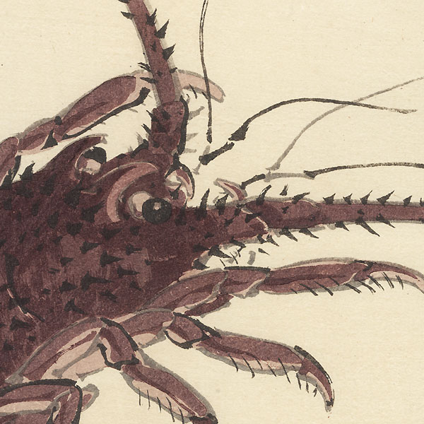 Lobster by Bairei (1844 - 1895)