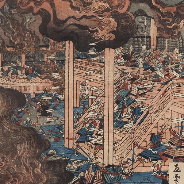 Battle of Rokuhara in the Taiheiki, 1859 by Sadahide (1807 - 1873)