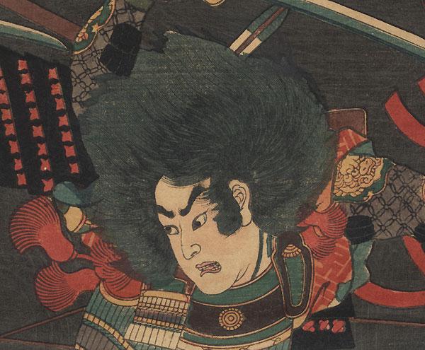 Battle at Hagashima, Ise Province, 1860 by Yoshitora (active circa 1840 - 1880)