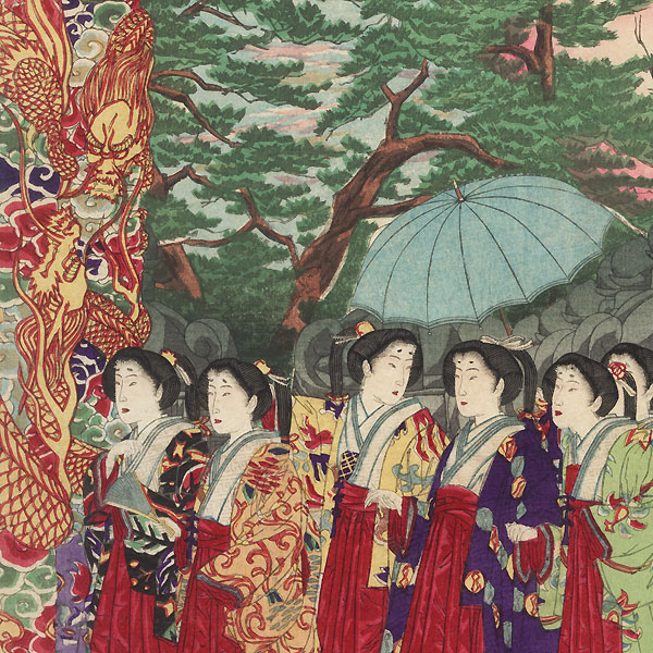 Visit to a Shrine by Ginko (active 1874 - 1897)