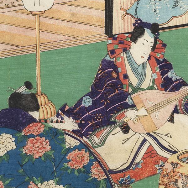 An Evening Concert, 1852 by Toyokuni III/Kunisada (1786 - 1864)