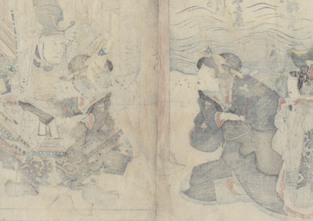 Scene from Yoshitsune Senbon-zakura, 1829 by Toyokuni III/Kunisada (1786 - 1864)