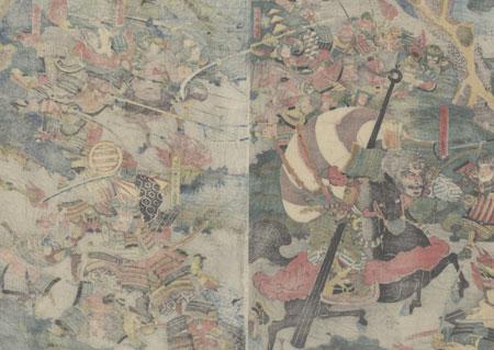 The Wada Rebellion, circa 1825 - 1835 by Toyokuni II (1777 - 1835)