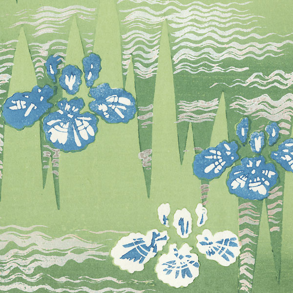 Cherry Blossoms; Irises by Shin-hanga & Modern artist (unsigned)